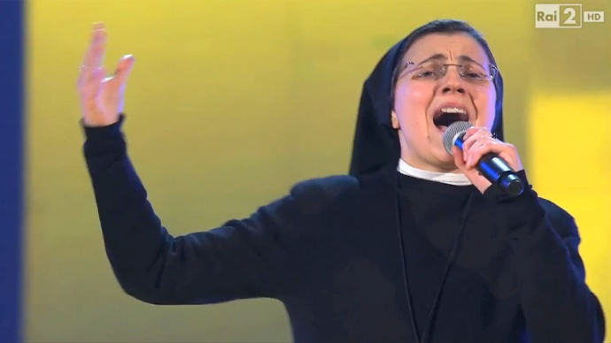 Singing nun Sister Cristina Scuccia on Italy's The Voice